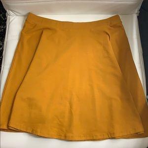 Forever 21 Mustard Yellow Cotton Mini Skirt